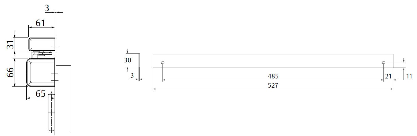 Крепежная пластина A240 / 3 мм Для монтажа скользящей тяги к дверям с притвором. Комбинация с A230, A250, A260