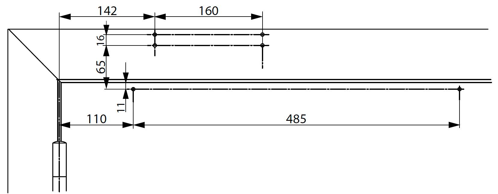 Монтажные размеры с монтажной пластиной для установки доводчика DC700 на коробку со стороны петель Доводчик на коробке со стороны петель. Для дверей, где прямой монтаж невозможен.