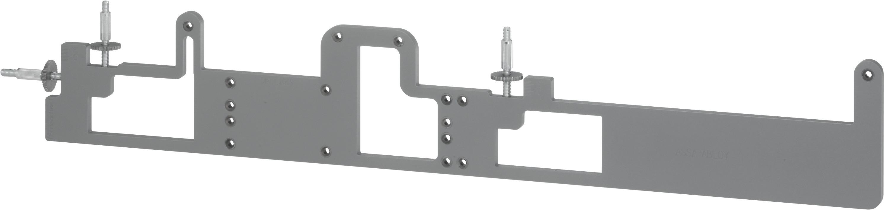 Универсальный шаблон для сверления A176 Универсальный шаблон для сверления к моделям дверных доводчиков DC700, DC500, DC336 и DC200 Для установки с внешней стороны