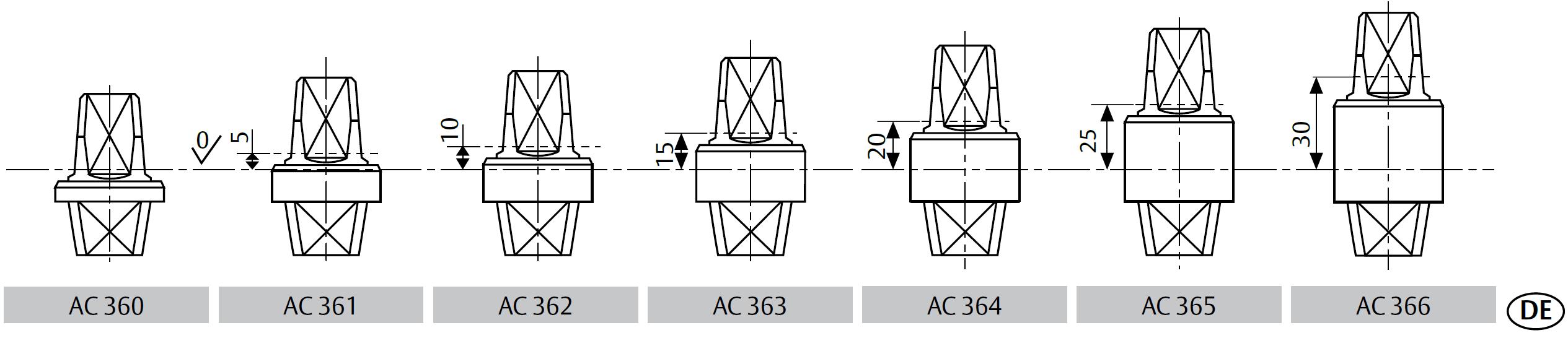 Шпиндели для напольных доводчиков ASSA ABLOY
