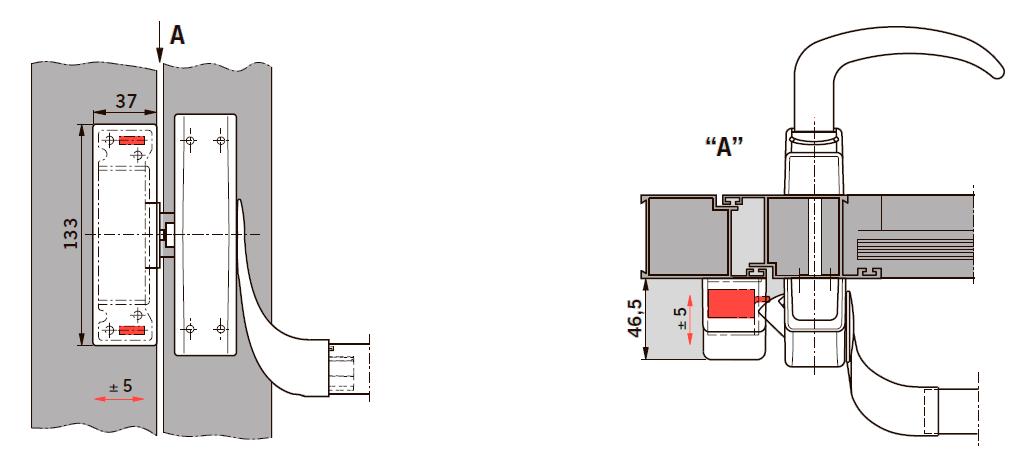 Применение электрозащелки PHX 50 совместно с PHA 2000 на профильной двери