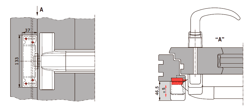 Применение электрозащелки PHX 50 совместно с PHB 3000 на деревянной двери