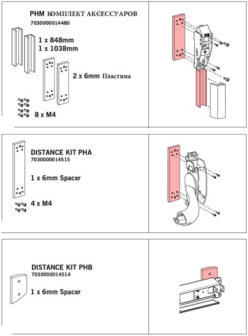 Комплекты аксессуаров для PHM