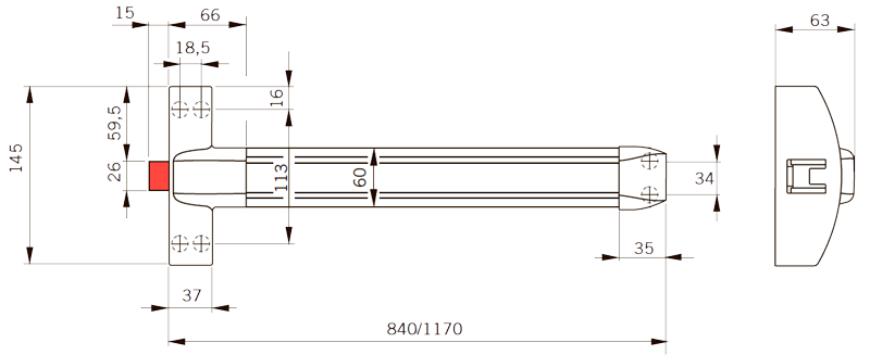 PHB 3000 — Одноточечное запирание