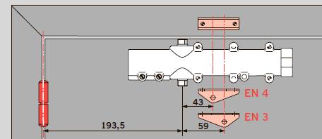 Правильно подобрать усилие закрывания для двери чрезвычайно легко – просто поверните лапку рычага и получите типоразмер EN 3 или EN 4.