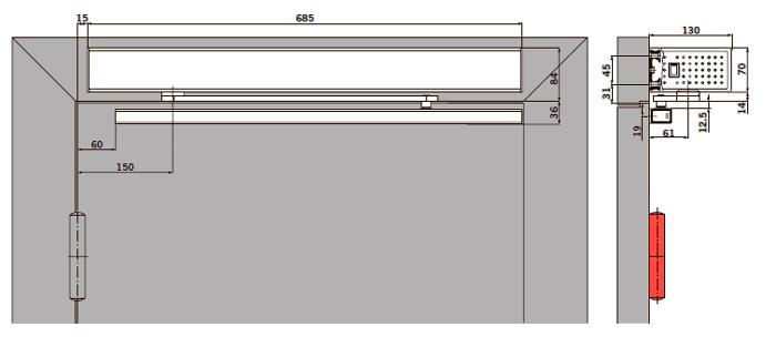 Вид: базовая крышка, тянущая версия (сторона петель), тяга с 12,5 мм осью башмака