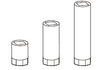 Если расстояние между приводом и тягой более 25 мм, используйте удлинитель шпинделя