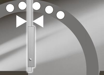 Permanent Open Система привода PORTEO будет держать дверь в открытом положении в течение любого периода времени. Это режим активируется и деактивируется простым переключением кнопки, расположенной прямо на приводе двери.