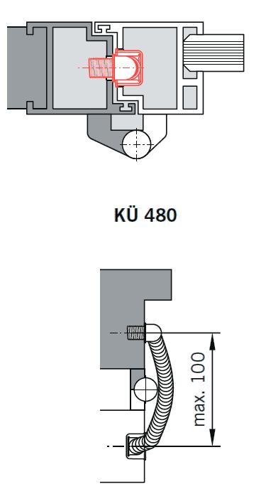 Кабель-канал KU480 для ED врезной применение