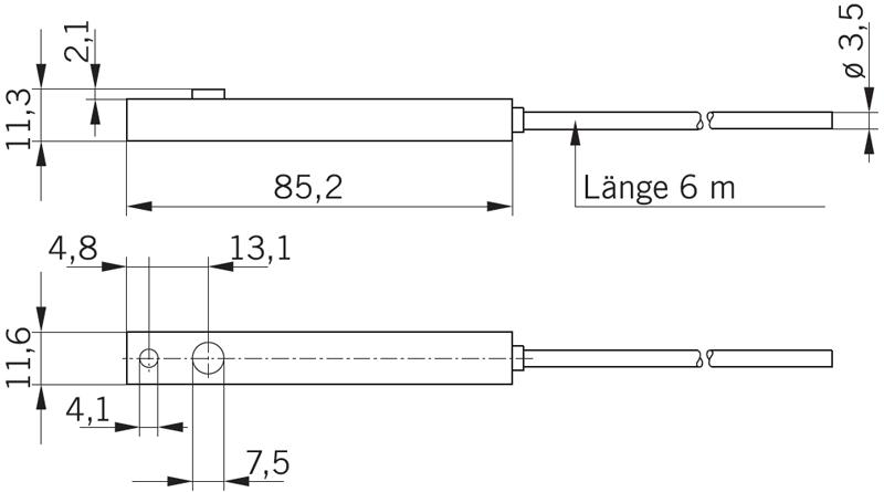 Фотобарьер Prosecure (приемник+передатчик)_размеры
