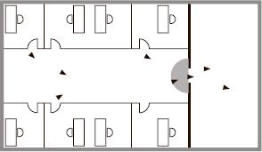 Для зданий с низкой и средней проходимостью. Требуются предварительные знания о том, как открыть эвакуационную дверь. РИСК ВОЗНИКНОВЕНИЯ ПАНИКИ ОТСУТСТВУЕТ