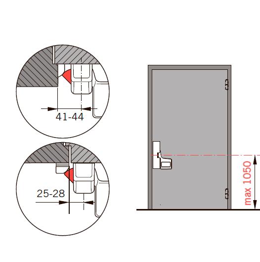 Применение и особенности монтажа EXIT PAD с одной точкой запирания