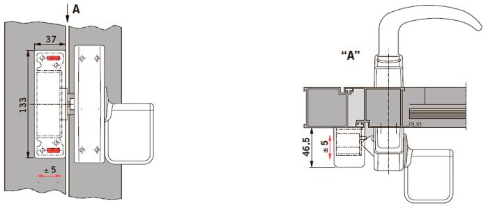 Применение электрозащелки PHX 50 совместно с Exit Pad на профильной двери