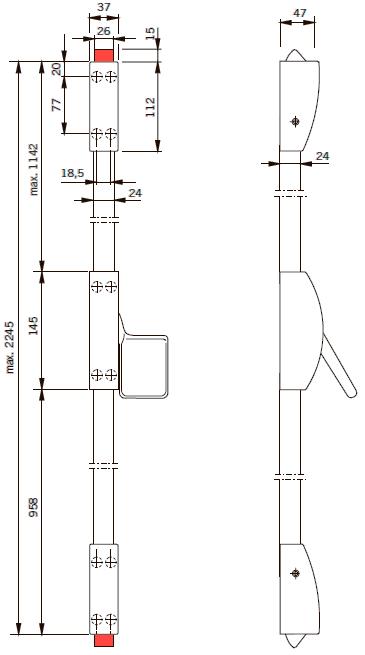 EXIT PAD 2P размеры