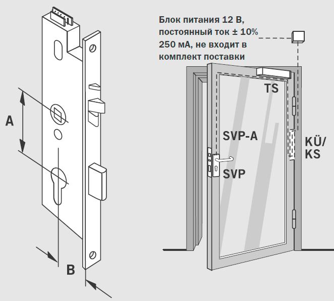 Соленоидный антипаниковый огнестойкий замок серии SVP 6000 ...