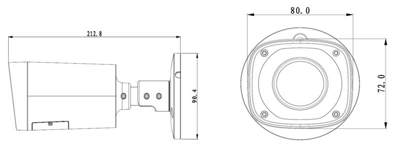DH-IPC-HFW2300RP-Z размеры