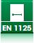 Обозначение решений, которые соответствуют требованиям Европейского EN 1125 стандарта EN1125.