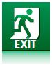 Отдельные изделия и решения, которые соответствуют требованиям стандарта для экстренного выхода.