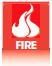 Обозначение изделий или решений, которые соответствуют противопожарным требованиям и могут использоваться в противопожарных дверях.