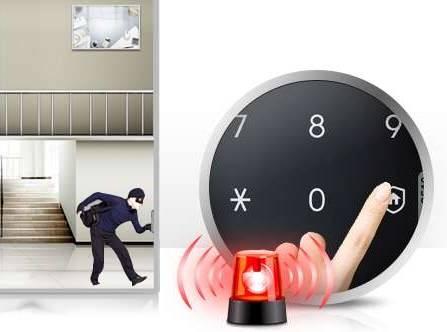 Функция «Двойная защита» и «Автоматическая блокировка» для накладного замка для стеклянных дверей Samsung SHS-G510
