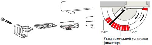 Фиксатор открытого положения для установки в скользящий канал
