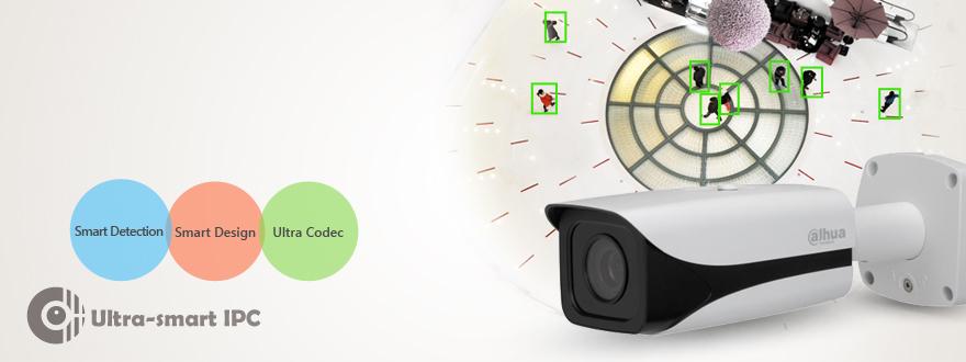 Цилиндрическая сетевая камера Ultra-Smart 3 Мп с широким динамическим диапазоном и ИК-подсветкой  IPC-HFW8301E
