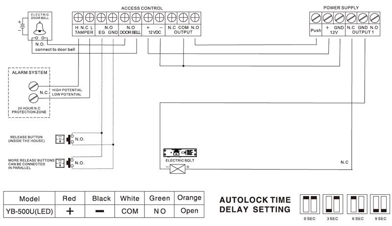 Схема подключения YB-500U