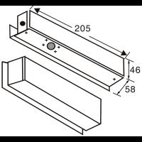 YB-100S + ABK-700 комплект на цельностеклянные двери