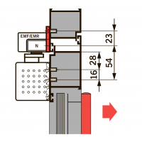 Монтажная пластина 40 мм для G-EMF