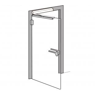 PORTEO + EMC 400 AH + UBG-10/12 комплект для автоматизации цельностеклянной двери с запиранием на электромагнитный замок