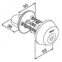 Цилиндр с поворотной кнопкой CY028
