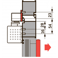 Монт. пл. 40 мм для G-SR/BG