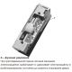 Basic A электрозащелка с регулируемым язычком для дверей с притвором и без,симметричная. 12В DC, НЗ. С функцией удержания