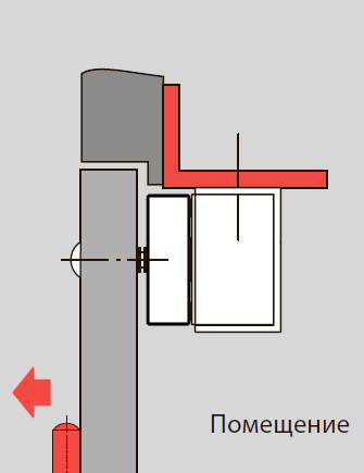 L-кронштейн для узкой дверной рамы