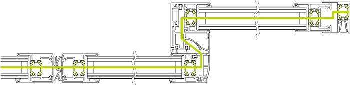 Профиль ST FLEX Green в горизонтальном разрезе