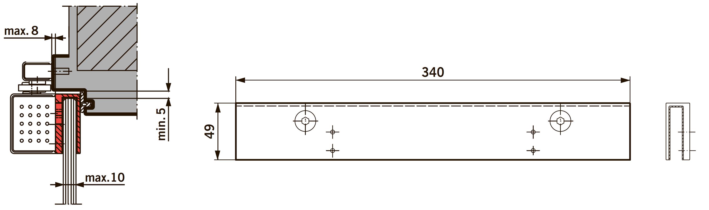 Монтажная пластина для TS 97