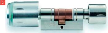 Беспроводной цилиндр XS Cylinder Pro DZ со считывателем снаружи, поворотным кнобом изнутри европрофильный.